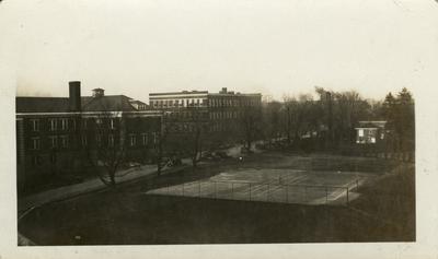 Universal Service Photograph, University of Kentucky Tennis Court opposite Kastle Hall / Pence Hall