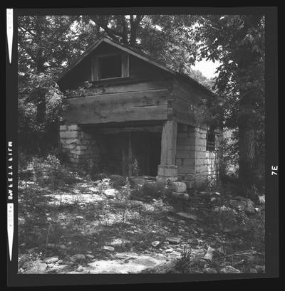 The spring house at the Joseph B. Carroll House, near Loch #9 on the Kentucky River, Jessamine County, Kentucky