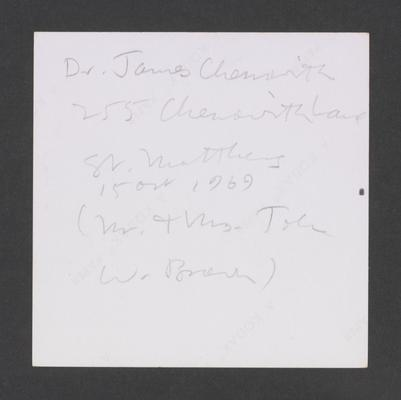 Dr. James Chenoweth 255 Chenoweth Lane, St. Matthews, Louisville, Kentucky in Jefferson County