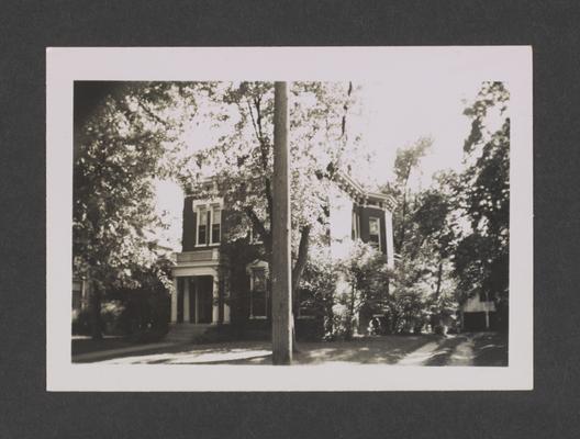 James Headley house. West Third Street. Lexington, Kentucky