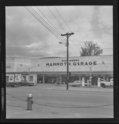 Dick Webb's Mammoth Garage. Main and Rose Street. Lexington, Kentucky