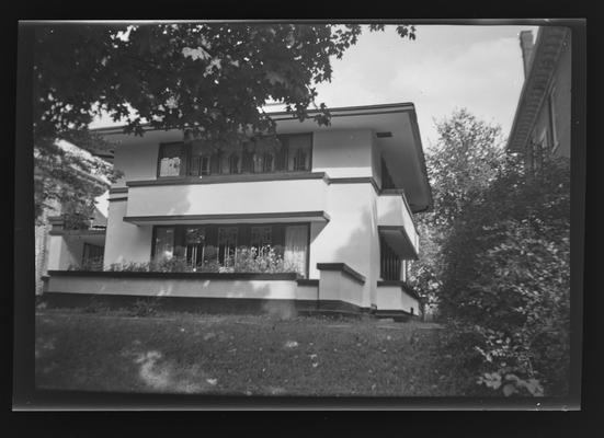 Frank Lloyd Wright. Reverend J. R. Zeigler house. 509 Shelby Street. Frankfort, Kentucky