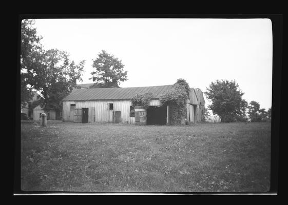 Stables in back of West Family House, Shaker Village of Pleasant Hill, Kentucky in Mercer County