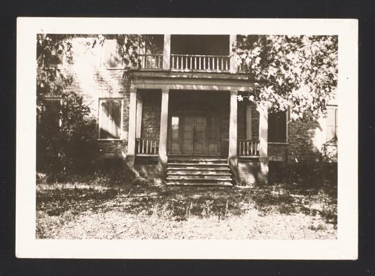 Colonel John Smith House on Elkhorn Creek, 7 miles east of Frankfort, Kentucky in Franklin County