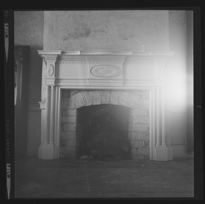 Mantel at Bob Harrison's House, also knows as White Hall, Troy, Kentucky in Jessamine County