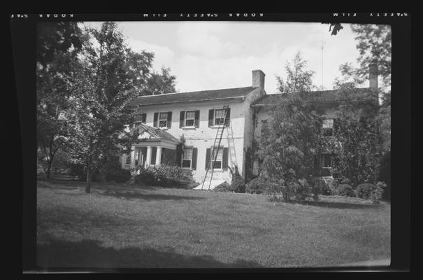 Stony Point, main block of house built by Captain John Parker in the 1790s, 4935 Parkers Mill Road, Fayette County, Kentucky
