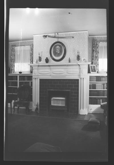 A mantel at the General James McConnell House, McCowans Ferry Road, Versailles, Kentucky in Woodford County
