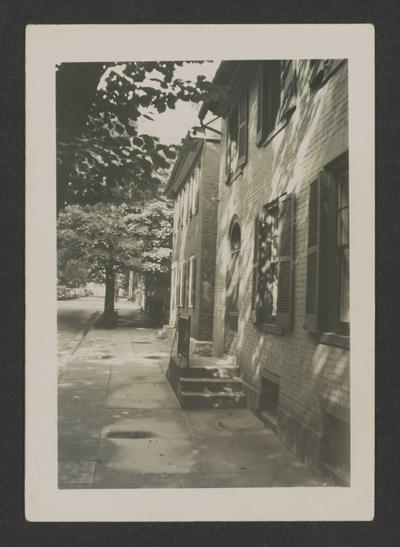 Houses on Market Street next to Gratz Park, Lexington, Kentucky in Fayette County