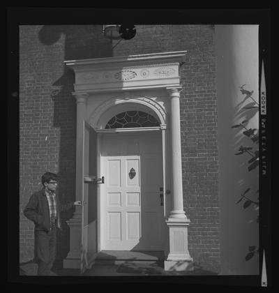 Doorway at Clay Hill on the road to Danville, Harrodsburg, Kentucky in Mercer County