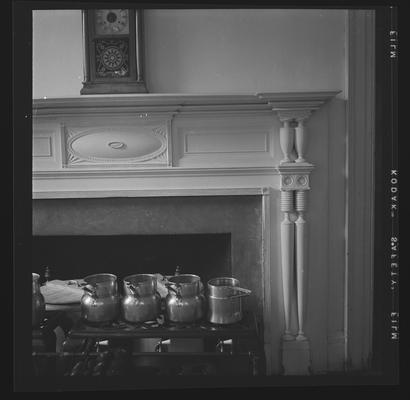 Mantel from west parlor now in the southeast chamber at Elmwood Hall, 244 Forest Avenue, Ludlow, Kentucky in Kenton County