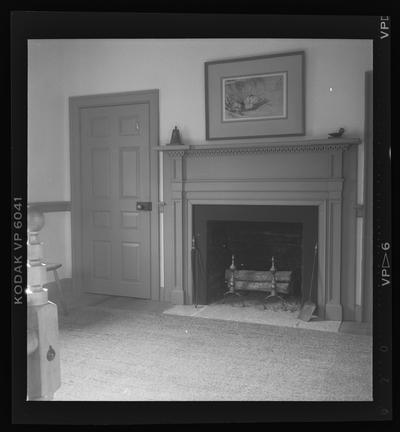 Bedroom mantel at Warwick, Moses Jones House, Mercer County, Kentucky
