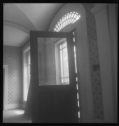 Interior view of the front door at the David J. Ayers House circa 1835, Broadway Street, Danville, Kentucky in Boyle County
