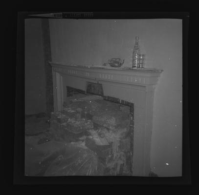 Dining room mantel at the William Morton House on Duncan Park, North Limestone and 5th Street, Lexington, Kentucky in Fayette County