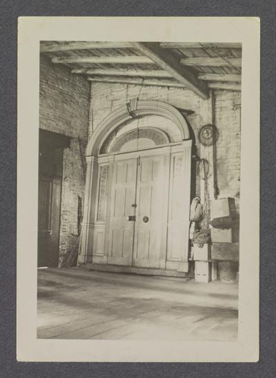 Goodard House door, Harrodsburg, Kentucky in Mercer County