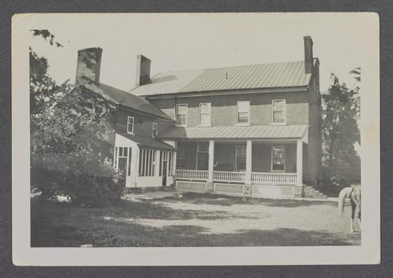 Rear view of Grassland, built in 1823 Shelby Lane, Lexington, Kentucky in Fayette County