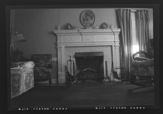 Mantel at the Barker House, Cleveland Pike (Road), Athens, Kentucky in Fayette County