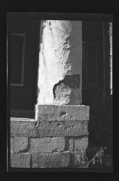 Detail of column, Belvoir, Wilmore, Kentucky in Jessamine County