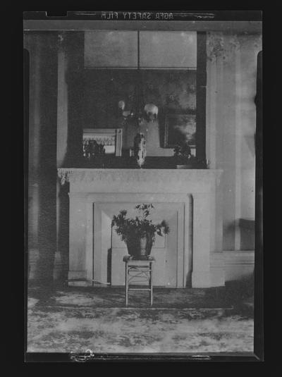 Front parlor fireplace at the Francis Key Hunt House, taken from the Eleanor Parker Hopkins Collection