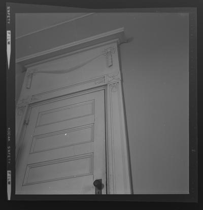 Parlor door at Edgewood, Versailles, Kentucky in Woodford County