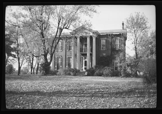 House with corinthian portico near Millersburg, Kentucky in Bourbon County