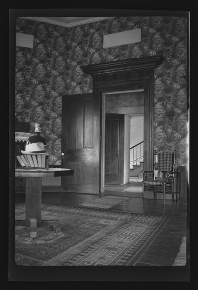 Interior of Chaumiere des Prairies, Jessamine County, Kentucky