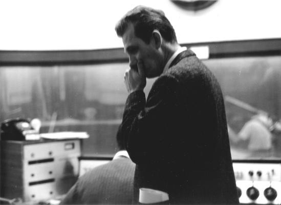 Unidentified man in studio