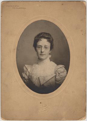 Miss Mabel Cross of Hiram, Ohio. Music teacher, about 1900-1901
