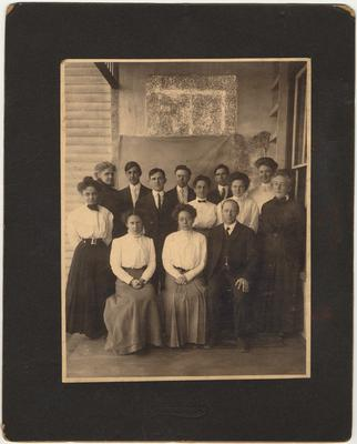 Faculty of Hazel Green Academy, 1910. The names are on the back of the photo