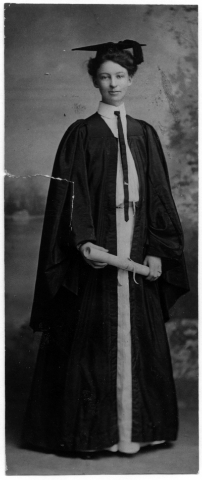 Portrait of McLaughlin as a B.A. graduate of State College of Kentucky in 1903