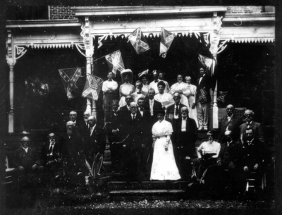 Confederate Veteran's Reunion, Morgan's Men, held at the home of Charles Henry Meng in North Middletown, Bourbon County, Kentucky (Meng was a private in the 9th Kentucky Cavalry, Co. C (C.S.A.))