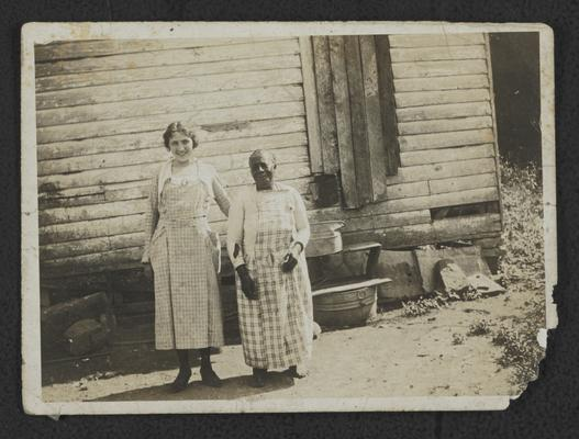 Gretis Jackson and unidentified, elderly African-American woman