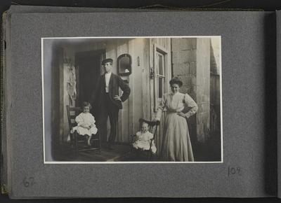 Man, woman, two children