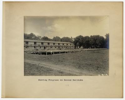 Showing progress on second barracks