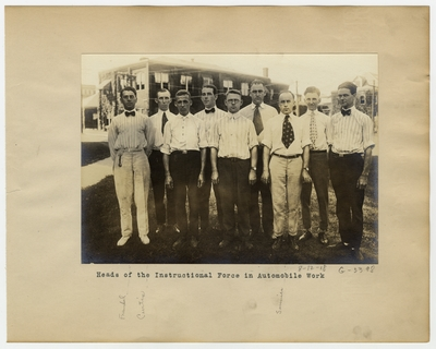 Heads of the instructional force in automobile work