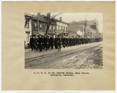 S.A.T.C in the Liberty Parade, Main Street, Lexington, KY