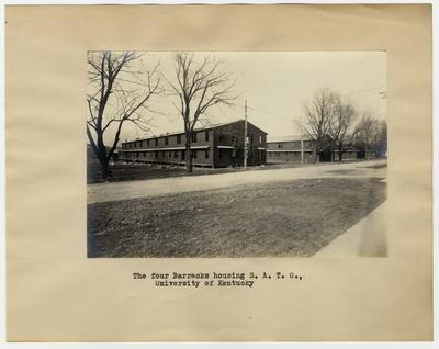The four barracks housing S.A.T.C., University of Kentucky