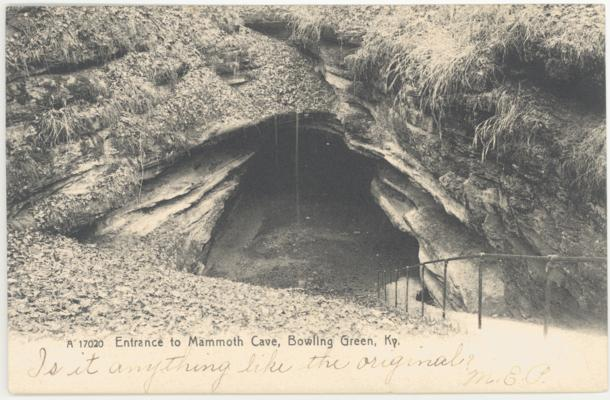 Entrance to Mammoth Cave, Bowling Green, Ky. (Postmarked 1907)