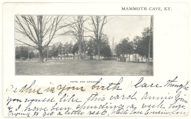 Mammoth Cave, KY. Hotel and Grounds. (Postmarked 1907)