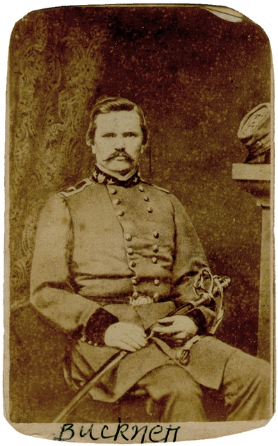 Major General Simon Bolivar Buckner (1823-1914) C.S.A.; organized Kentucky State Militia, one of the most successful Confederate Generals