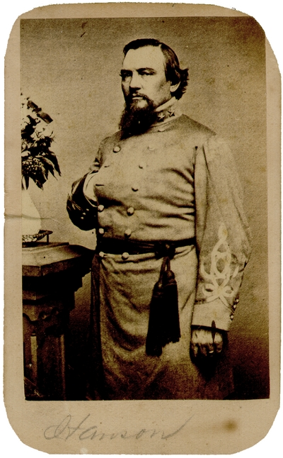General Roger Weightman Hanson (1827-1863) C.S.A.;  Lexington, Kentucky native; Commander of the Orphan Brigade, killed in the Battle of Murfreesboro, Tennessee