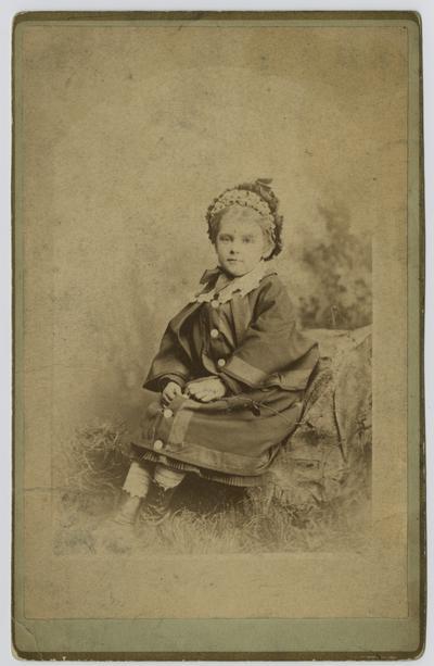 For Aunt Caroline, taken in 1877, Mary Neville, Born June 3, 1871