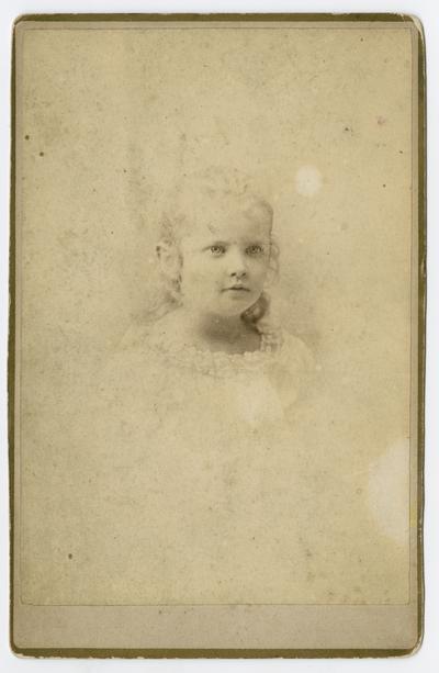 Linda Neville, Lexington, KY born April 23,1873. This photograph was taken in (?)