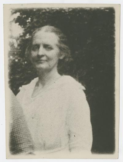 Mary Neville at Preston Johnston's -Fayette Co.- about 1917 or 1918 or 1919