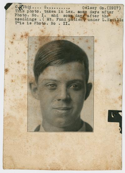 Patient, male, unknown- from Owsley County, Kentucky