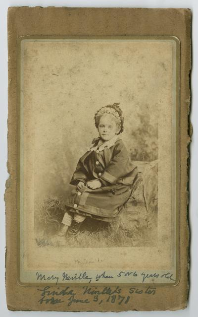 Mary Neville when 5 or 6 years old, Linda Neville's sister, born June 3, 1871