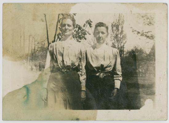 Linda Neville (right side) and Mary Neville