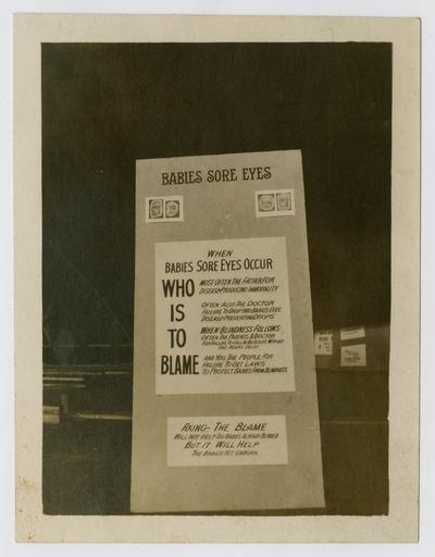 Photographs of screens arranged by Linda Neville for the November 1912 Kentucky Child Welfare Exhibit in the Armory in Lousiville