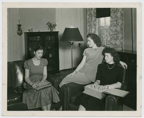Female pupils at the Kentucky School for the Blind