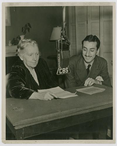 Linda Neville with Bob Trent on CBS in New York City