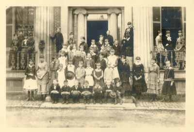 Unidentified group of children. Sliver Print